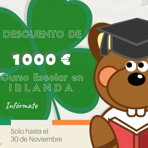 oferta de noviembre curso escolar en irlanda
