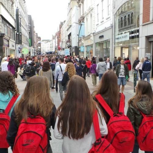 estudiantes en Dublin