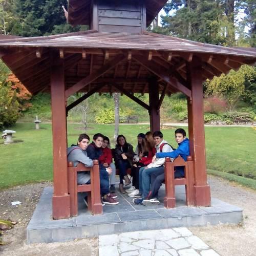 excursión del grupo de curso escolar